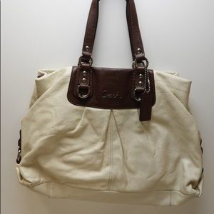 Authentic Coach Ashley Leather Carryall